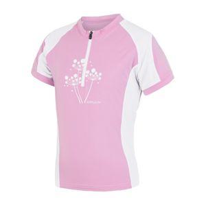 Detský cyklo dres Sensor CYKLO ENTRY ružová / biela 15100103