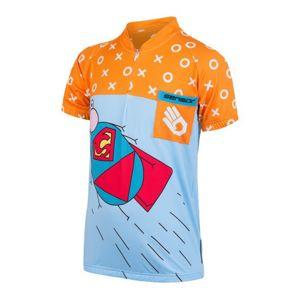 Detský cyklo dres Sensor ZUPAMAN modrá / oranžová 17100105