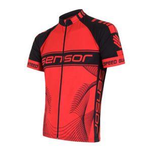 Pánsky cyklo dres Sensor CYKLO TEAM červená / čierna 15100086
