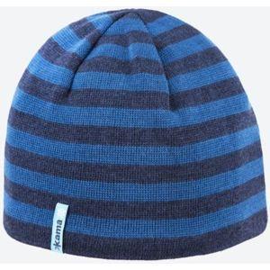 Pletená Merino čiapka Kama A122 108 tmavo modrá