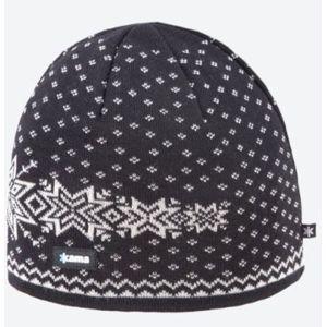 Pletená Merino čiapka Kama A128 110 čierna