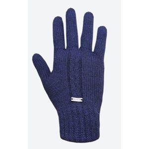 Pletené Merino rukavice Kama R103 108 tmavo modrá L