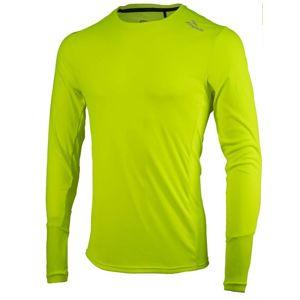 Športové funkčnou triko Rogelli BASIC s dlhým rukávom, 800.260. reflexná žltá L