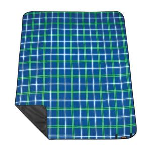 Pikniková deka s popruhom Spokey PICNIC Tartana, modrá
