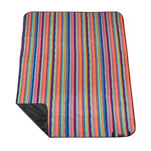 Pikniková deka s popruhom Spokey PICNIC tartan, pruhovaná