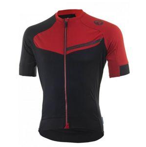 Cyklistický dres RogelliCONTENTO z hladkého materiálu, čierno-červený 001.084.