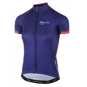 Dámsky cyklistický dres Rogelli PRIDE s krátkym rukávom a strihom na telo, modro-ružové 010.171.