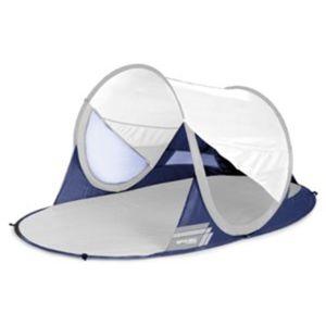 Samorozkládací plážová paravan Spokey STRATUS UV 40 190x120x90 cm bielo-modrý