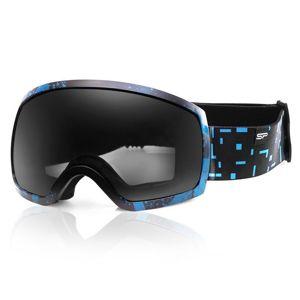 Spokey RADIUM lyžiarske okuliare čierno-tmavo modré
