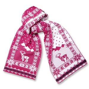 Pletená šál Kama S14 114 ružová