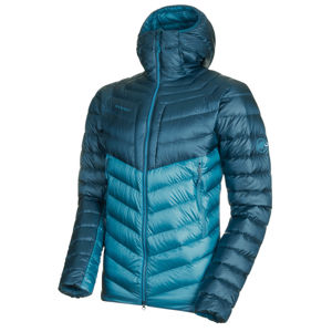 Pánska bunda Mammut Broad Peak IN Hooded Jacket Men saphire wing teal 50255 (1013-00260) XL