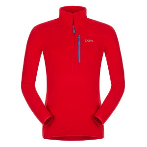 Pánsky fleece rolák Zajo Raven Pull Racing red XL