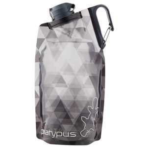 Fľaša Platypus DuoLock SoftBottle Gray Prisms 0,75 l