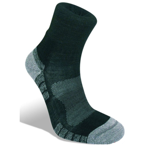 Ponožky Bridgedale Hike Lightweight Merino Performance Ankle black/silver/822 L (7-8,5)