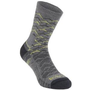Ponožky Bridgedale Hike Lightweight Merino Performance Ankle grey/lime/118 M (6-8,5) UK
