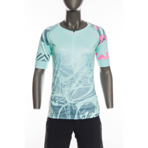 Dámsky MTB dres Silvini Stabina WD1432 turquoise-pink