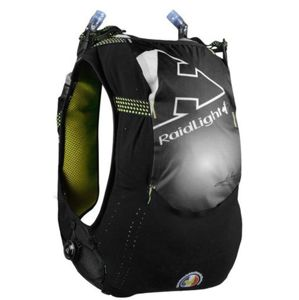 Bežecká vesta Raidlight Gilet Responsive 10l + 2*600ml Black L/XL