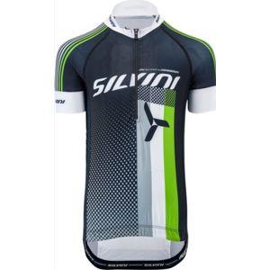 Detský cyklistický dres Silvini TEAM kids CD842K black-green
