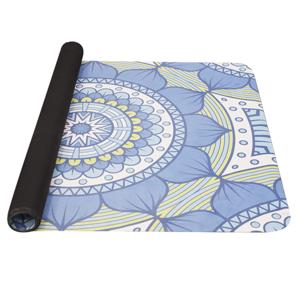Podložka na jógu YATE yoga mat prírodný guma / vzor B / modrozelená